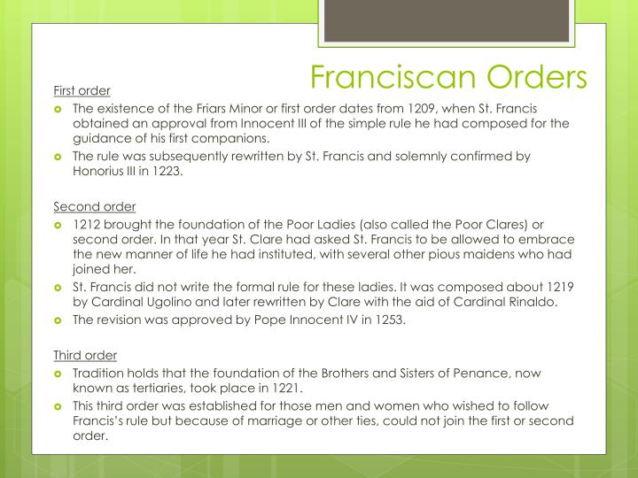 Franciscan Orders
