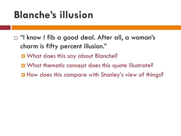 Blanche's illusion