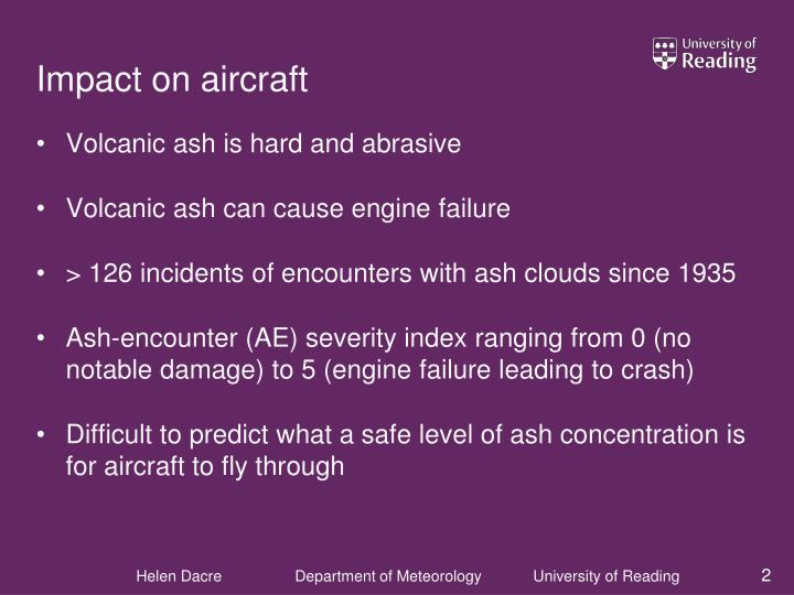 Impact on aircraft