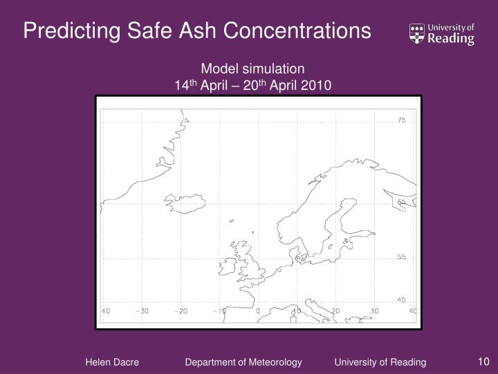 Predicting Safe Ash Concentrations