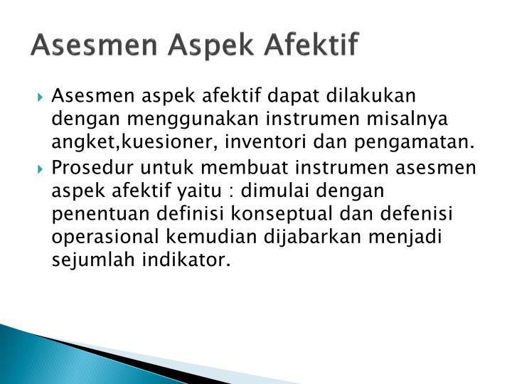 Asesmen Aspek Afektif