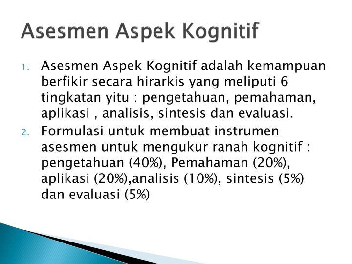 Asesmen Aspek Kognitif