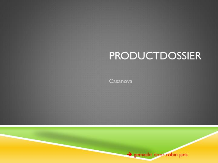 Productdossier