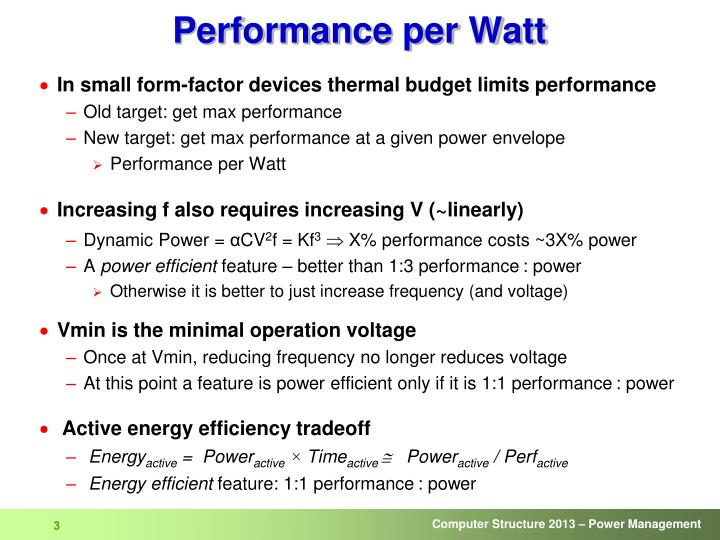Performance per watt