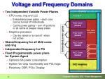 voltage and frequency d omains