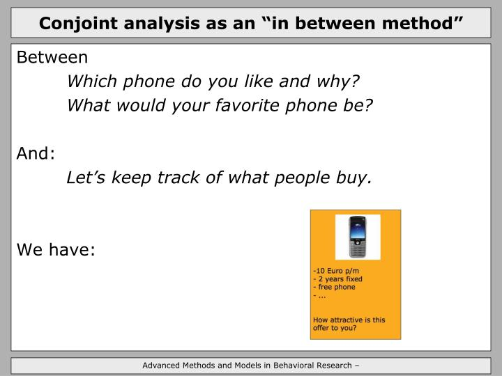 Conjoint analysis as an