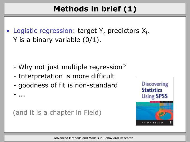 Methods in brief (1)