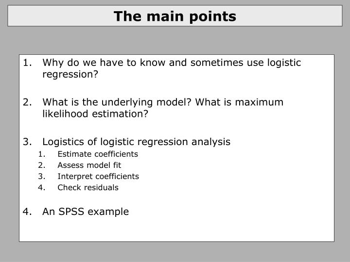 The main points