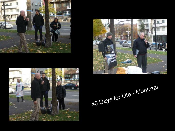 40 Days for Life - Montreal