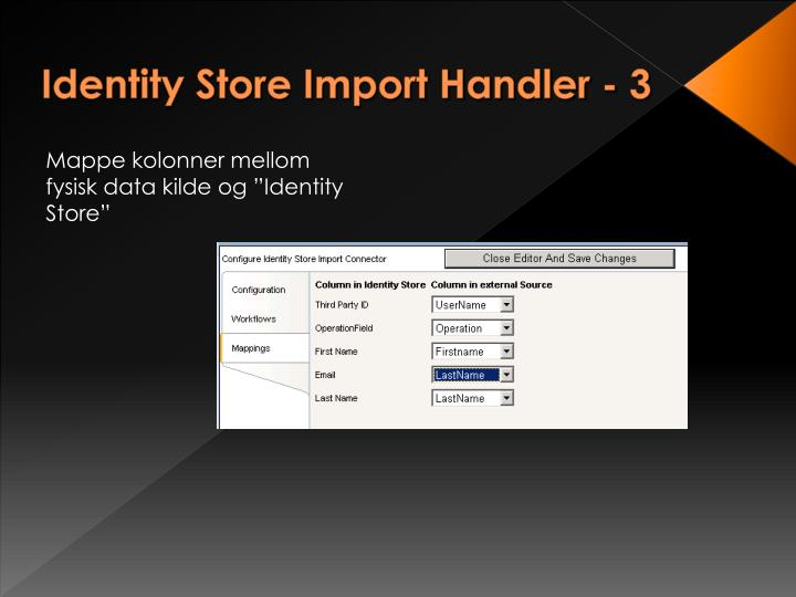 Identity Store Import Handler - 3