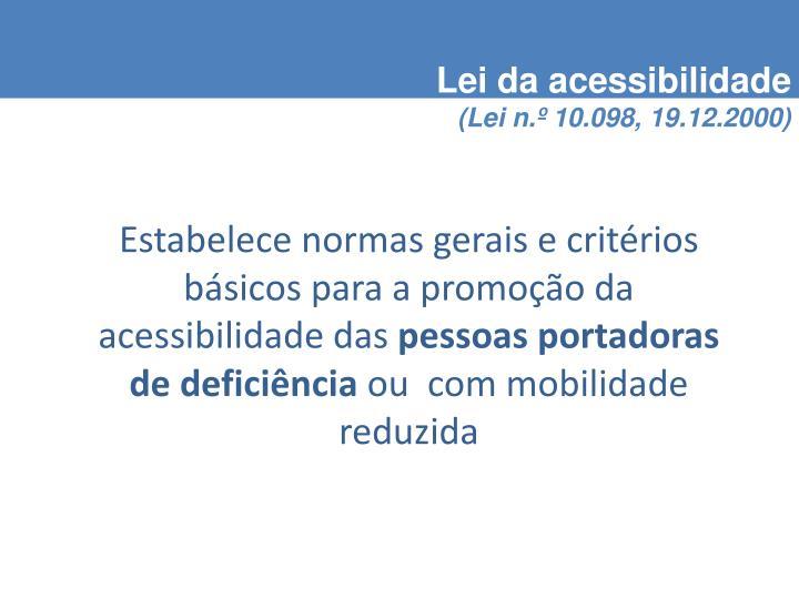 Lei da acessibilidade