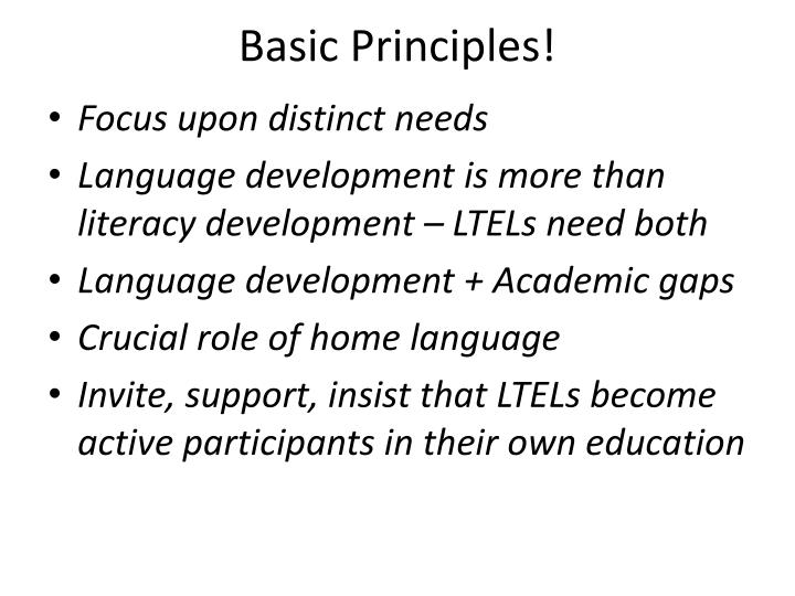 Basic Principles!