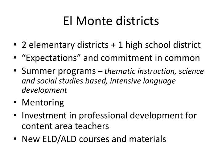 El Monte districts