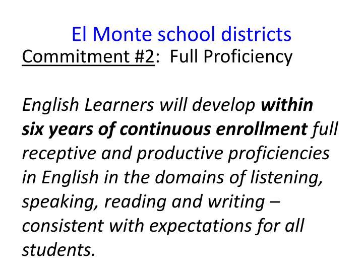 El Monte school districts