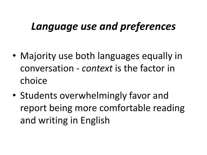 Language use and