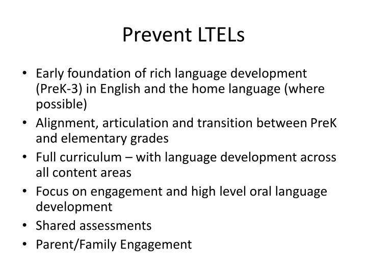 Prevent LTELs