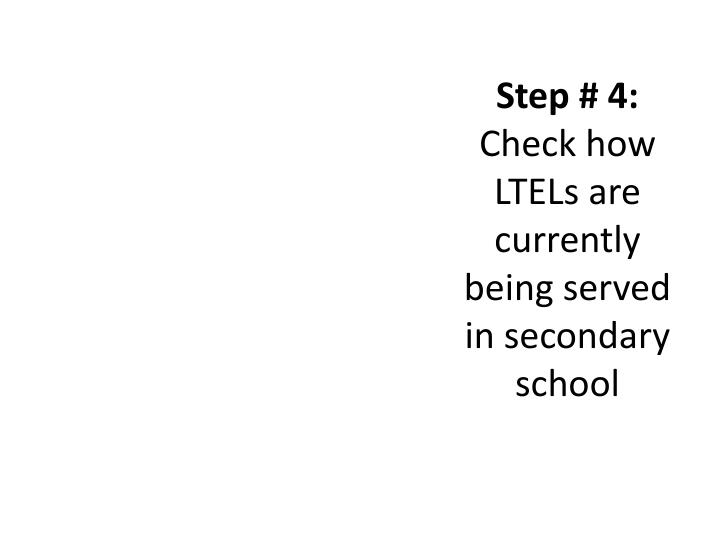Step # 4: