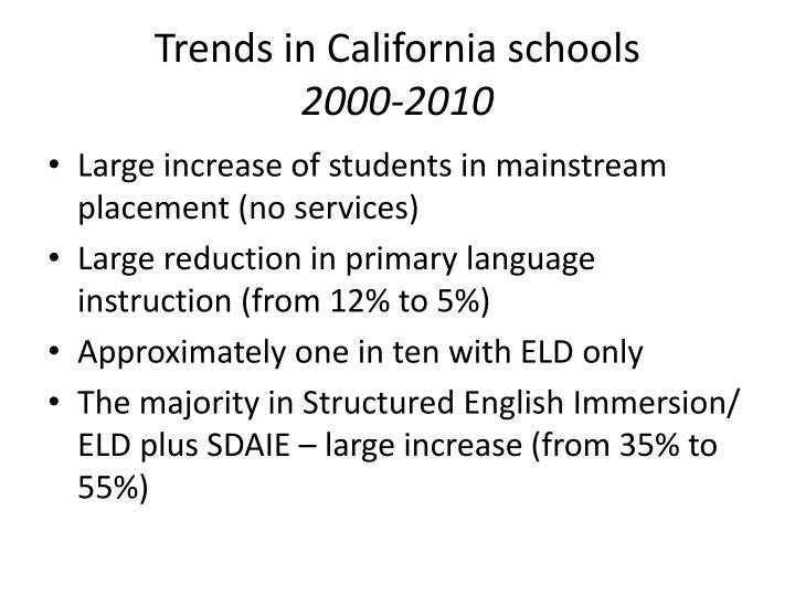 Trends in California schools