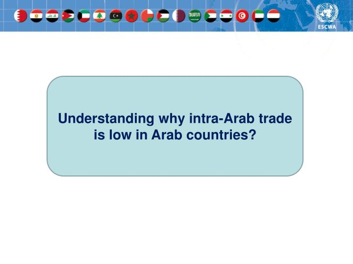 Understanding why intra-Arab trade is low in Arab countries?