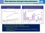 what determines divergent trade performance