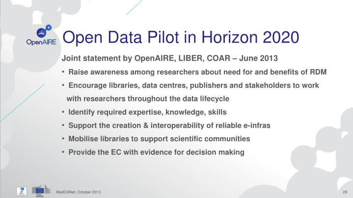 Open Data Pilot in
