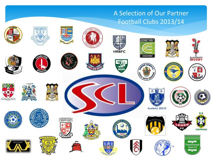 A Selection of Our Partner Football Clubs 2013/14