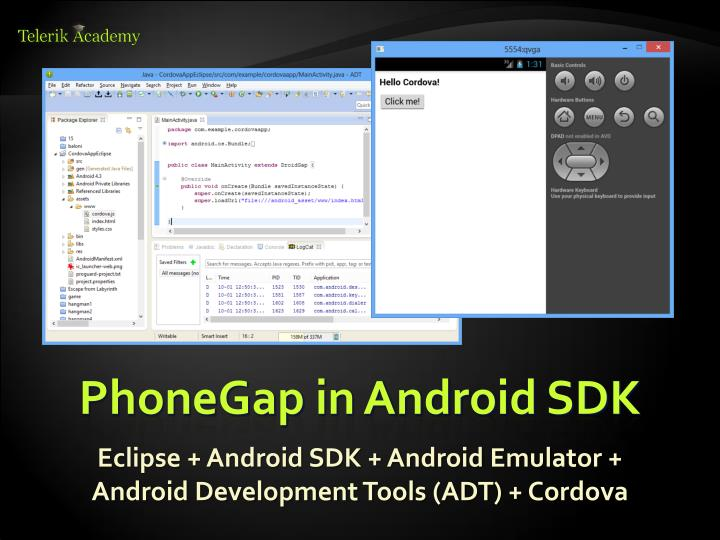 PhoneGap in Android SDK
