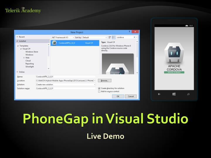 PhoneGap in Visual