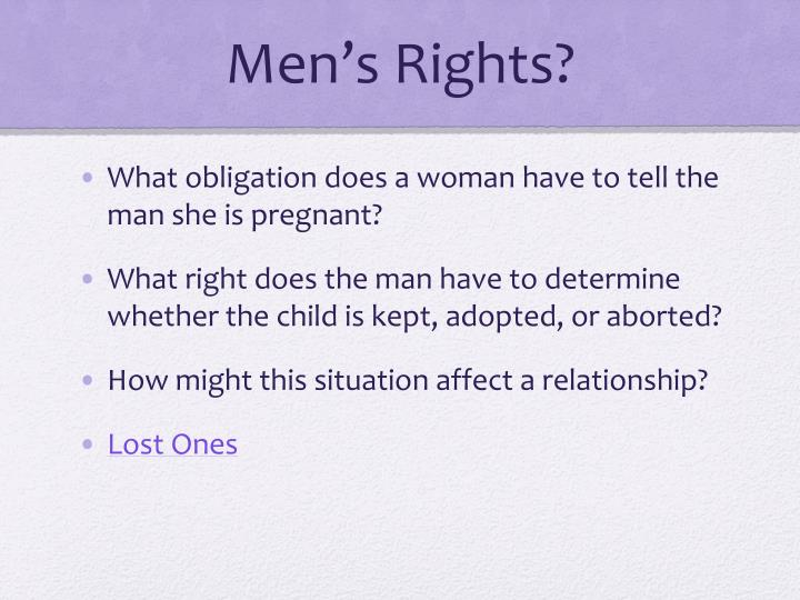 Men's Rights?