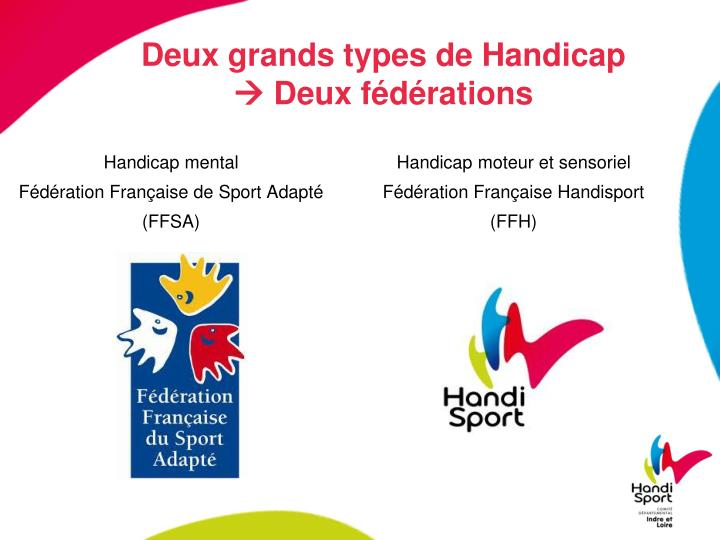 Deux grands types de handicap deux f d rations