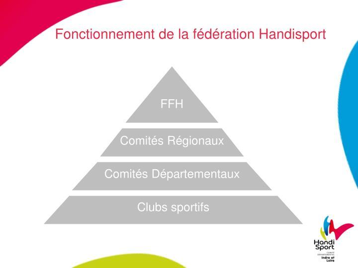 Fonctionnement de la fédération Handisport