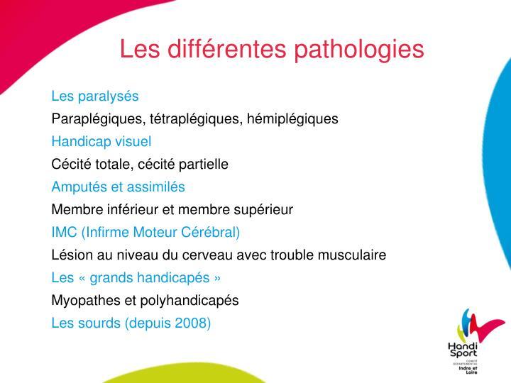 Les différentes pathologies