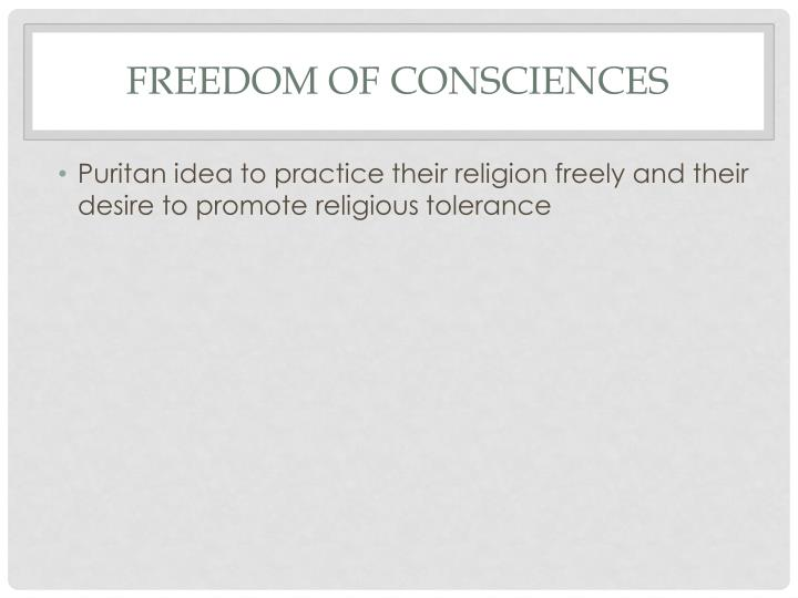Freedom of Consciences