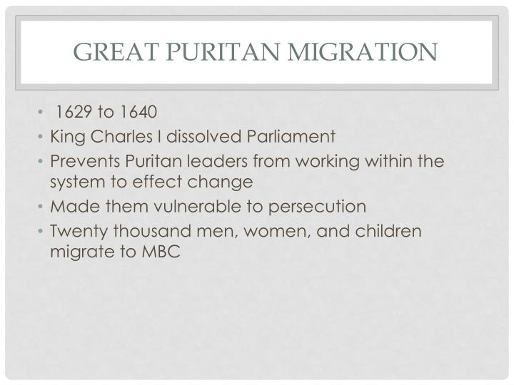 Great Puritan Migration