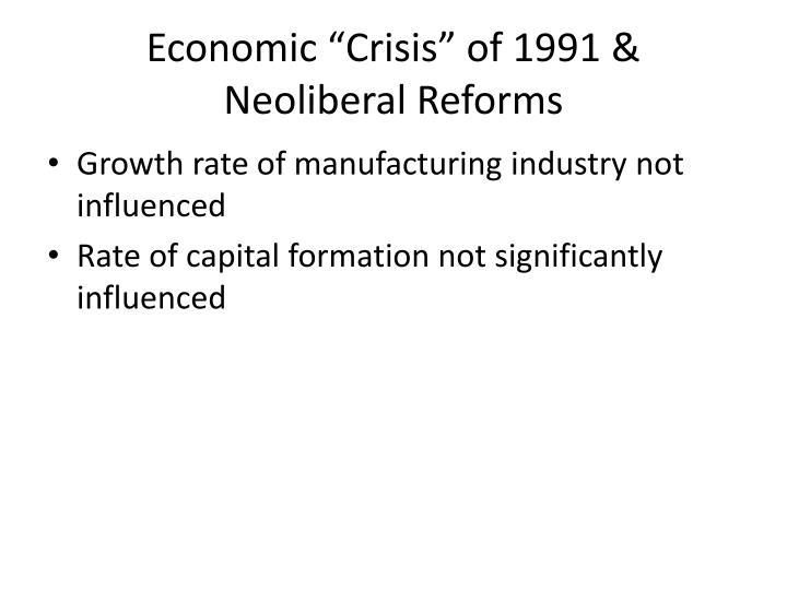 """Economic """"Crisis"""" of 1991 &"""