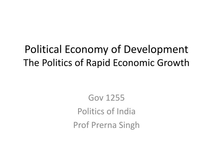 Political Economy of Development