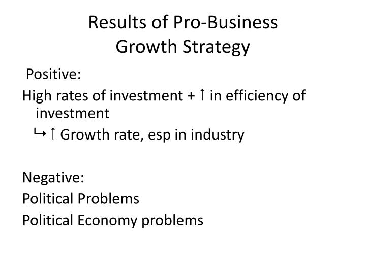 Results of Pro-Business