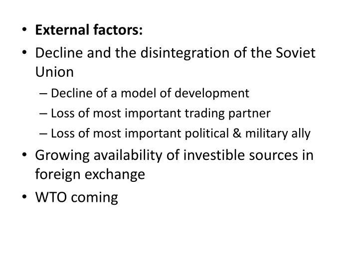 External factors: