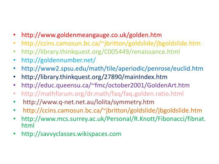 http://www.goldenmeangauge.co.uk/golden.htm