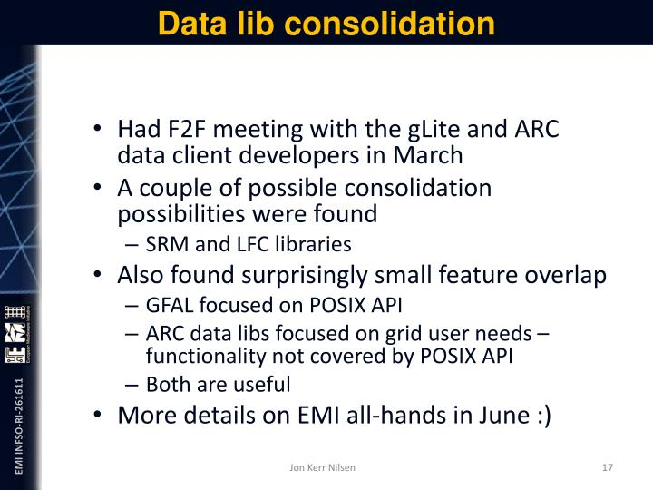 Data lib consolidation
