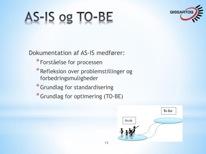 AS-IS og TO-BE