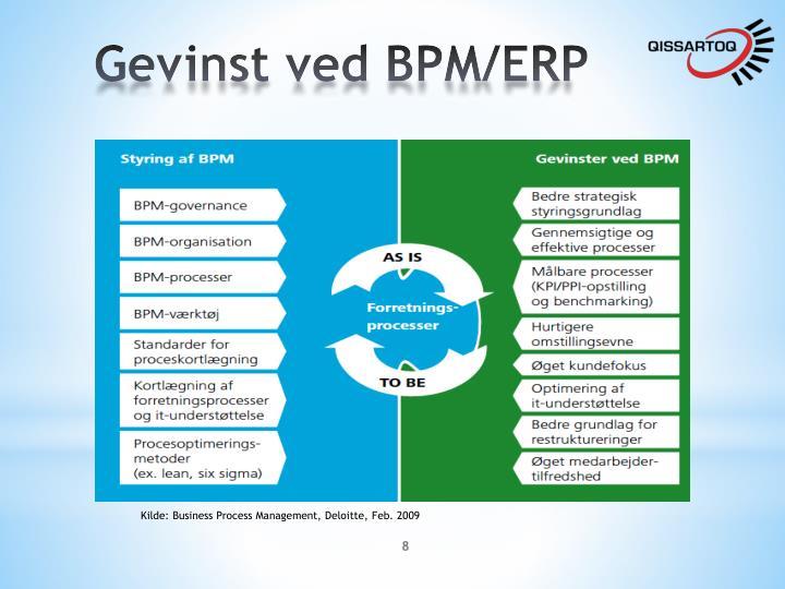Gevinst ved BPM/ERP