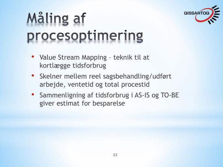 Måling af procesoptimering