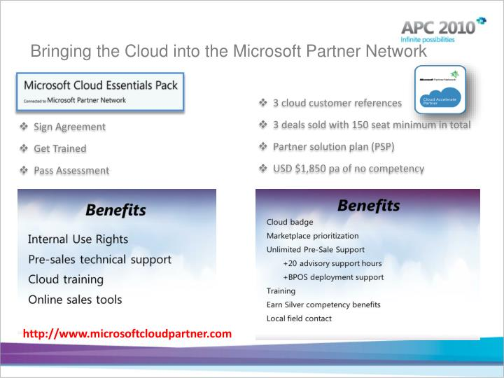 Bringing the Cloud into the Microsoft Partner Network