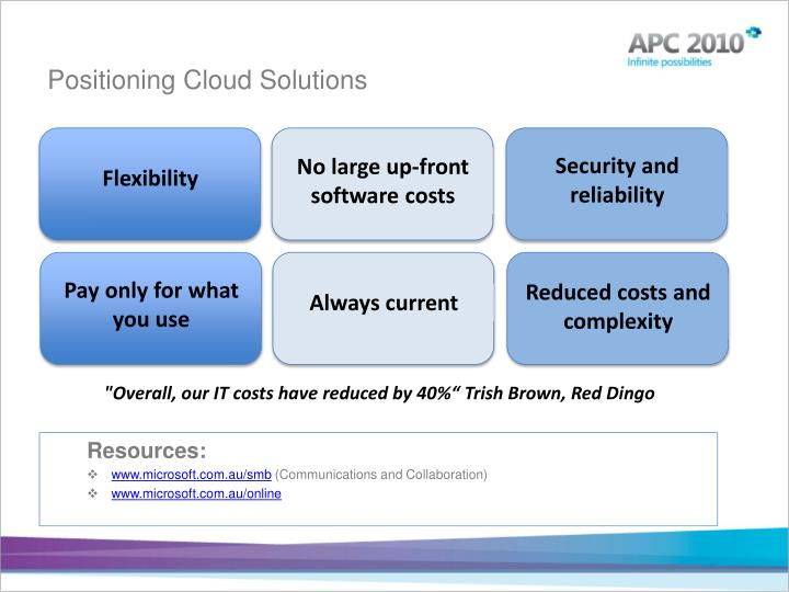 Positioning Cloud Solutions
