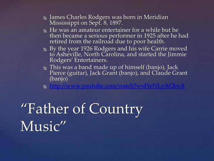 James Charles Rodgers was born in Meridian Mississippi on Sept. 8, 1897.