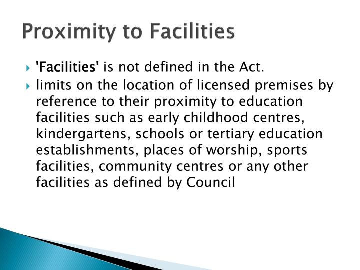 Proximity to Facilities