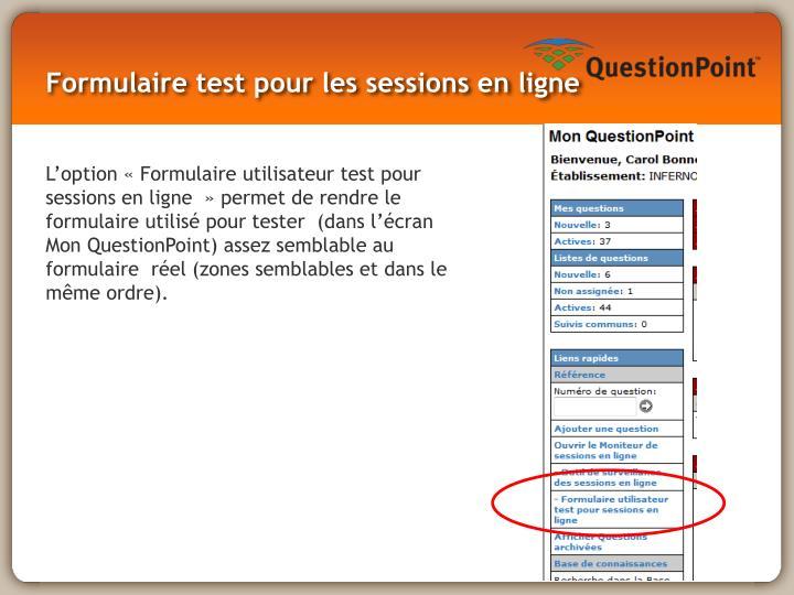 Formulaire test pour