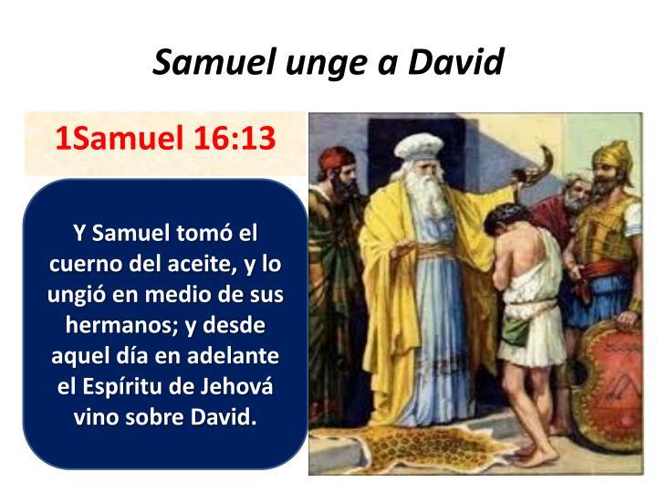 Samuel unge a David
