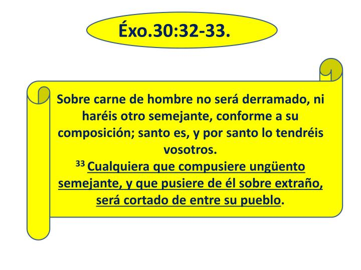 Éxo.30:32-33.